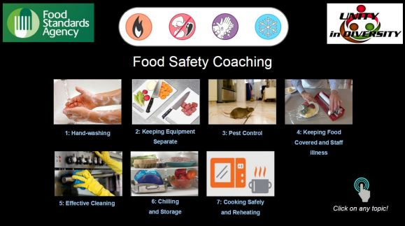 food safety coaching menu